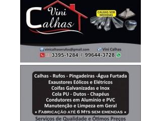 Calhas, Rufos, Coifas, Pingadeiras