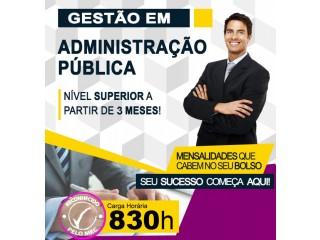 Administração Pública - Inicio Imediato