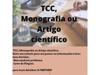 Formatação de Trabalhos Acadêmicos de acordo com as normas da ABNT ou da sua Instituição de ensino.