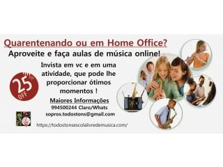 Retomando suas atividades ou em Home Office? Faça Música, Aulas de Saxofone ou Clarinete online.
