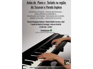 Aulas de Piano & Teclado na  zona norte na  região do Tucuruvi