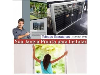 Janela Vidro Temperado Pronta para Chumbar
