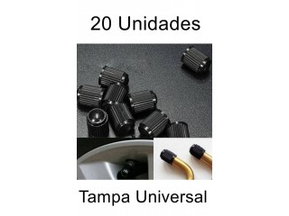 20 Bico Válvula Tampa Pneu Universal Carro Moto Bike
