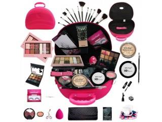 Maleta maquiagem grande kit de maquiagem completa profissional e kit pincel