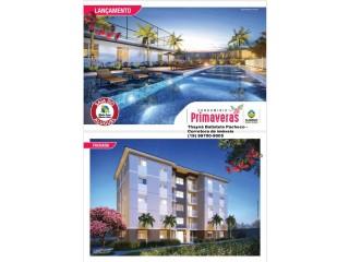Apartamento com 2 dormitorios, com sacada, ponto de ar- condicionado e piscina