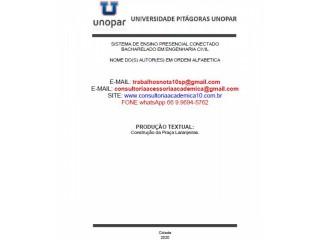 """BACHARELADO EM ENGENHARIA CIVIL 6º/5º SEMESTRE """"CONSTRUÇÃO DA PRAÇA LARANJEIRAS"""". (66) 9.9694-5762."""