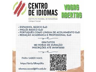 Cursos Gratuitos de Idiomas!!!