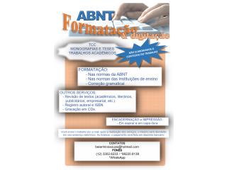 Formatação ABNT ou Vancouver de trabalhos acadêmicos