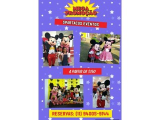 Mickey e Minnie - Personagens Vivos