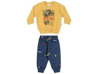 Conjunto Bebê Moletom Amarelo