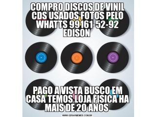 Compro cds usados discos de vinil dvds pago a vista
