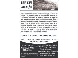 Dona Letícia vidente e astróloga