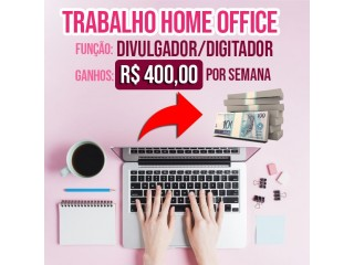 DIGITADOR HOME OFFICE (RENDA EXTRA)