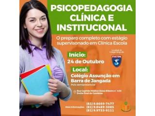 Póss graduação em psicopedagogia clinica e institucional