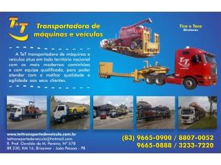 T&T TRANSPORTE E LOCAÇÕES DE MAQUINAS LTDA