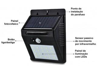 Super Luminária Solar de Led