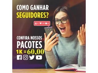 1000 SEGUIDORES INSTAGRAM BRASILEIROS E REAIS