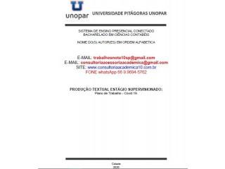 Plano de Trabalho Covid-19 Corrigido Conceito Nota Máxima (66) 9.9694-5762