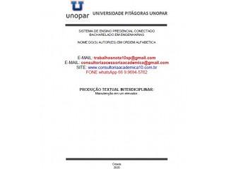 MANUTENÇÃO EM UM ELEVADOR Conceito Nota Máxima (66) 9.9694-5762