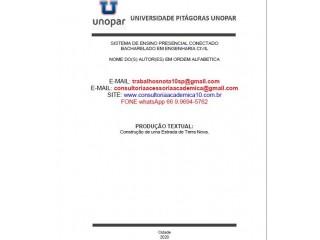 CONSTRUÇÃO DA ESTRADA DE TERRA Conceito Nota Máxima (66) 9.9694-5762