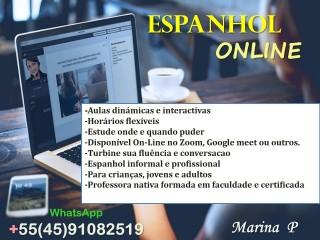 Aulas de Espanhol con professora nativa