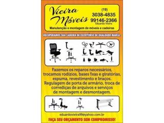 Venda, montagem, manutenção e conserto em moveis e cadeiras de escritório