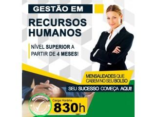 Faça Curso Superior Gestão de Recursos Humanos