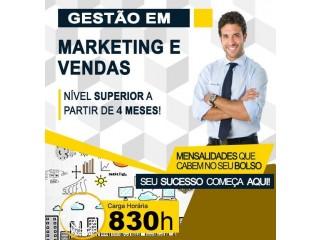 Gestão em marketing e Vendas Curso Superior