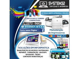System32 Cartuchos e Informática