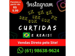 Curtidas para Instagram (1000) - Brasileiros - Reais e Ativos