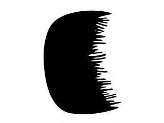 Pente de Plástico Pequeno c/ Dentes Irregulares para Aplicação de Maquiagem Capilar