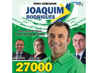 Candidato a vereador Joaquim Rodrigues 27000