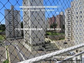 Telas de Proteção na Estrada dos Mirandas, Campo Limpo, (11) 5541-8283