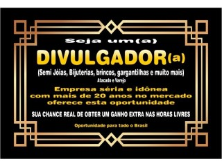 DIVULGADOR(A) de FOLHEADOS - DIRETO DA FÁBRICA