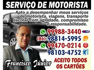 SERVIÇO DE MOTORISTA-FRANCISCO JUNIOR