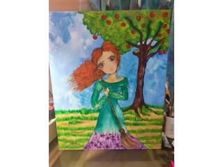 Maureen Miranda artista plástica medida 40x50 acrílica sobre