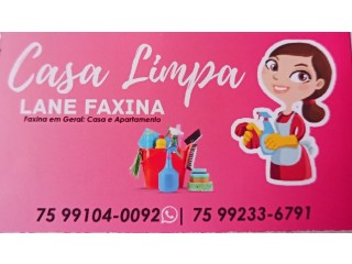 Casa limpa Lane Faxina