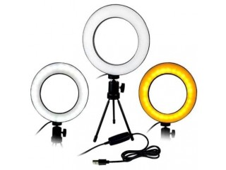 Ring Light Iluminador Led 16Cm + Mini Tripé - Centrão