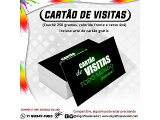 Cartão de visitas na promoção