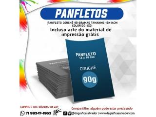 Panfletos na promoção