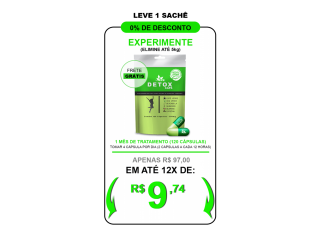 DETOX CAPS - PERCA DE 10 A 15 QUILOS EM 30 DIAS