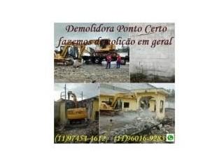 DEMOLIÇÃO DE CASAS EM JANDIRA