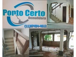SERVIÇOS DE DEMOLIÇÃO DE CASAS EM CABREÚVA