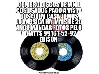 COMPRO DISCOS DE VINIL CDS USADOS BRINQUEDOS PAGO A VISTA
