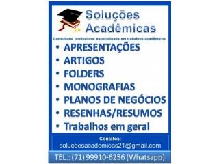 Consultoria especializada em trabalhos acadêmicos