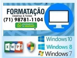 Formatação de Notebook, computadores, Salvador Bahia.